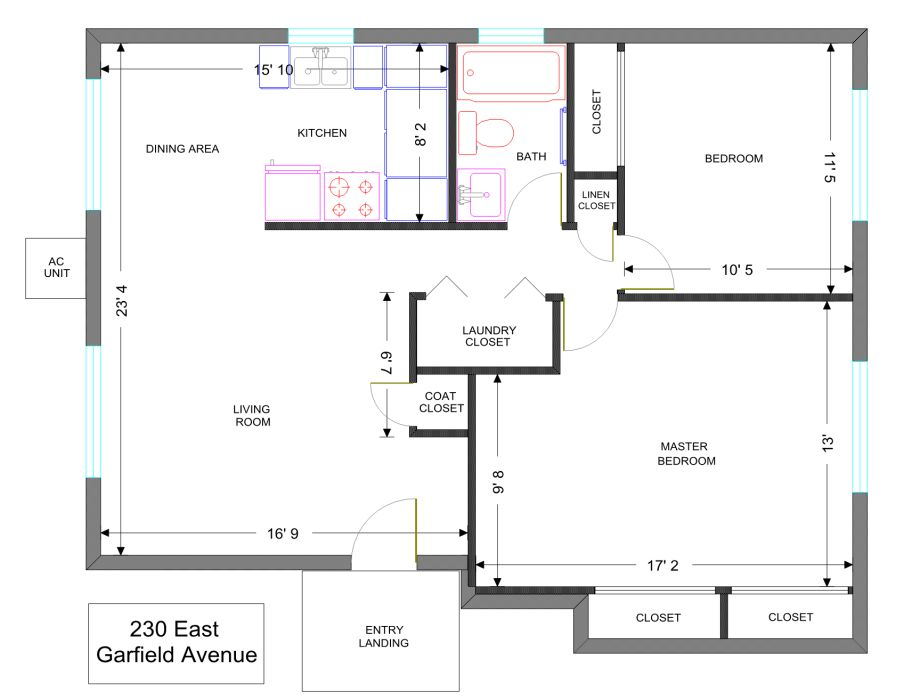 Apt. #2 Floor Plan