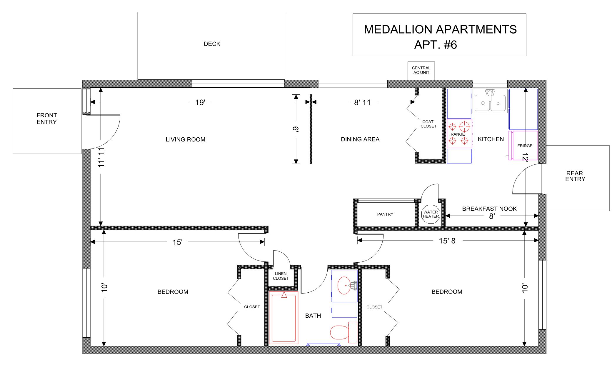 Apt. #6 floor plan
